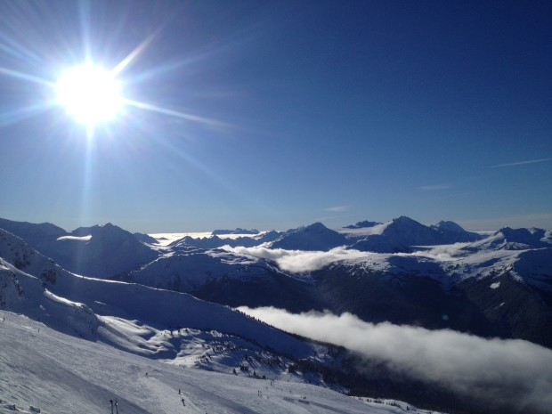 One thing about ski patrolling...the views from your office never get old. Photo - D'Arcy McLeish