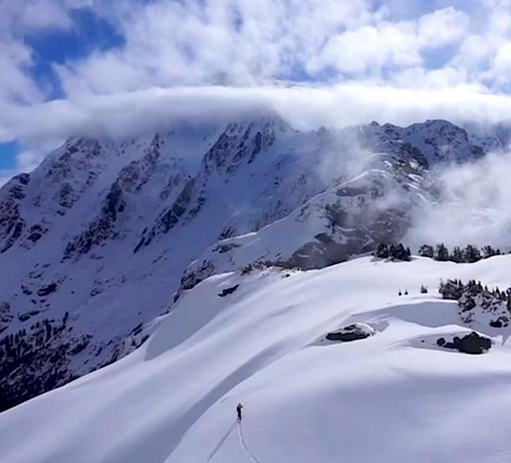 skiing mt. shuksan, wa