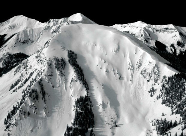 Kachina peak at Taos before the new chair was put in.