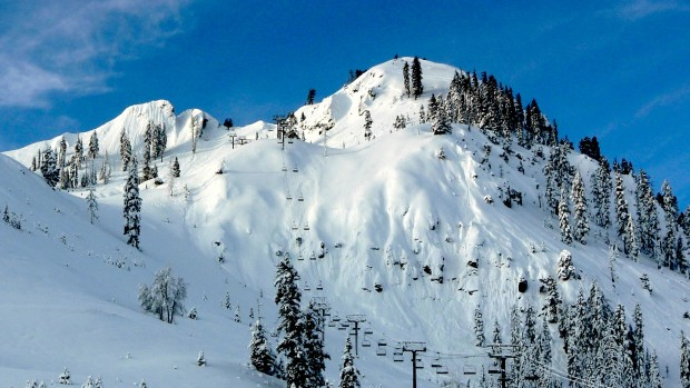 This is why you get a Tahoe ski lease. You wanna be first in here. KT-22's Fingers. photo: snowbrains