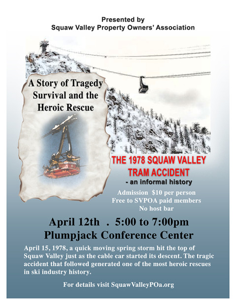 Detail about the Squaw Tram accident presentation at squaw