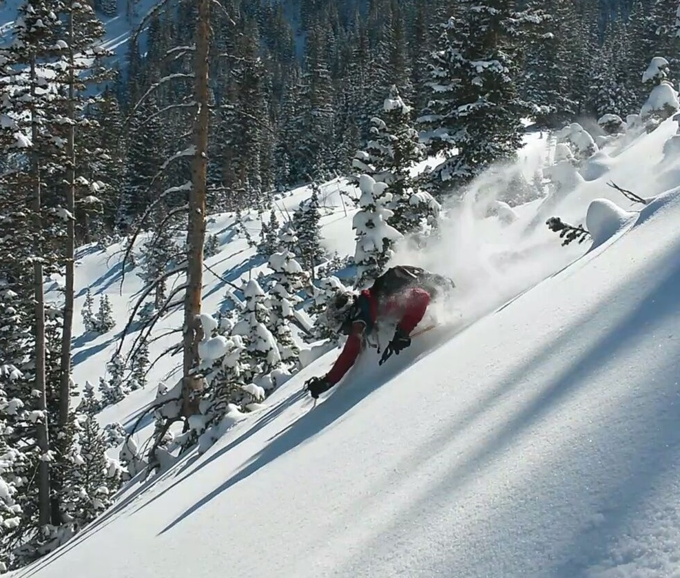 Feltchy getting pitted! [Photo: Aaron Rice, Skier: Sam Feltch]