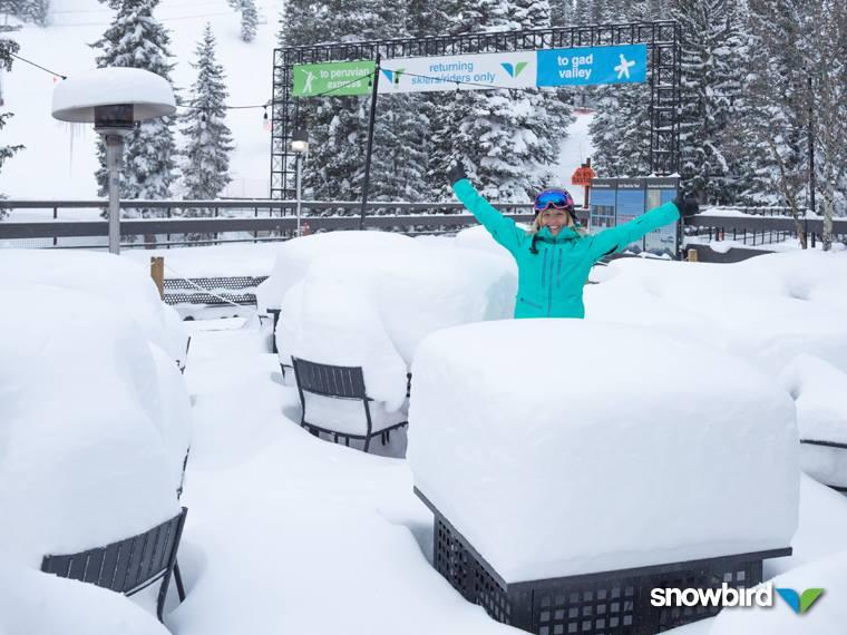 "44"" at Snowbird, UT on April 16th = biggest snowfall of the season."