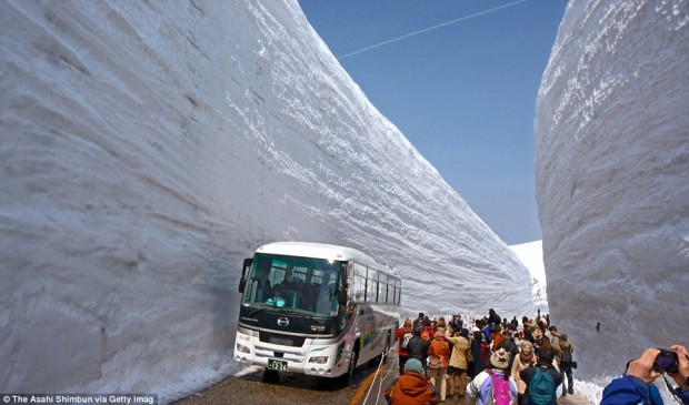Tateyama Kurobe Alpine Route, Japan.  Today.
