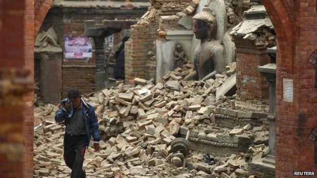 Katmandu on Saturday.  photo:  reuters