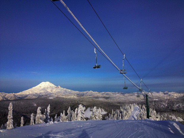 Mt. Rainier from White Pass Ski Resort