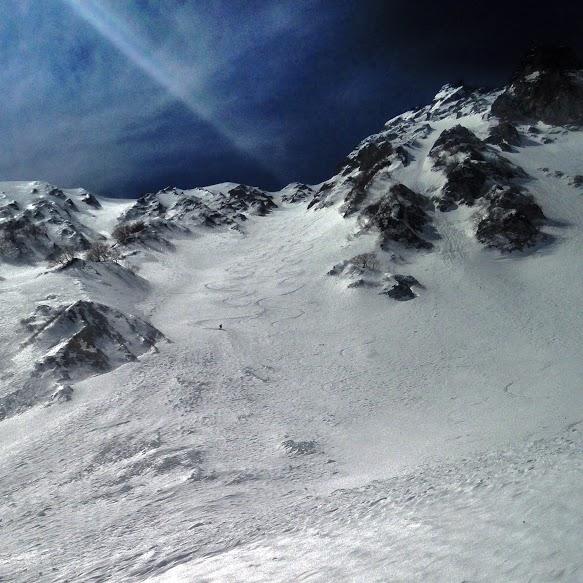 Good turns down the gut. Dave Ellison Skier. Lee Lyon Photo