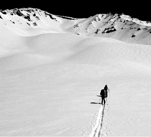 mt. shasta backcountry ski powder