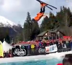 backflip pond crossing ski