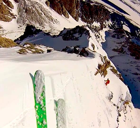 skiing the middle teton