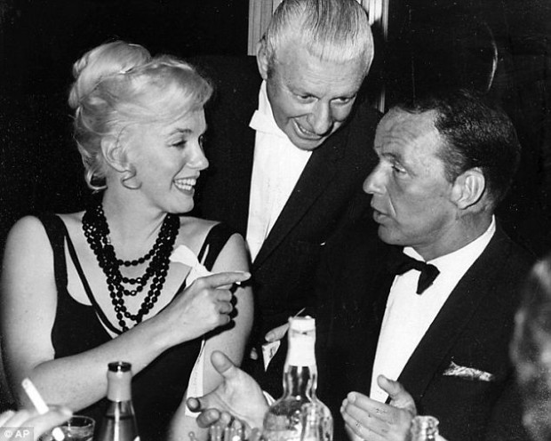 Last days: In this 1959 photo, Monroe and Sinatra chat with an unnamed man at the Cal Neva lodge. Monroe would go on to spend her last weekend at Cal Neva before dying of an overdose in 1962 Read more: http://www.dailymail.co.uk/news/article-2415783/Cal-Nevada-Casino-casino-owned-Frank-Sinatra-undergoing-major-makeover.html#ixzz3Wa8YseXJ Follow us: @MailOnline on Twitter | DailyMail on Facebook