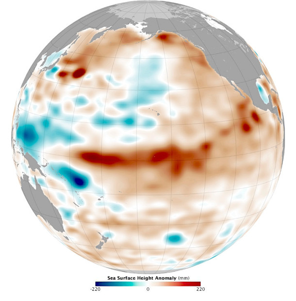 Earth's Ocean surface temperatures on March 13th, 2015