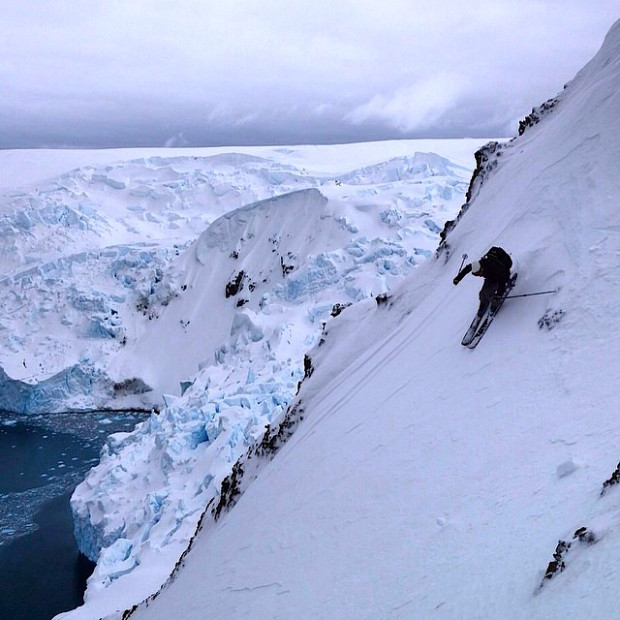 Seth Morrison dropping in in Antarctica. November 2014. photo: David Rosenbarger