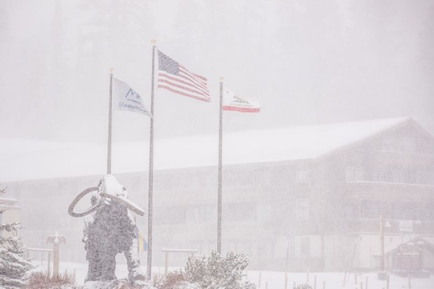 Photo of nuking snow at Mammoth today.