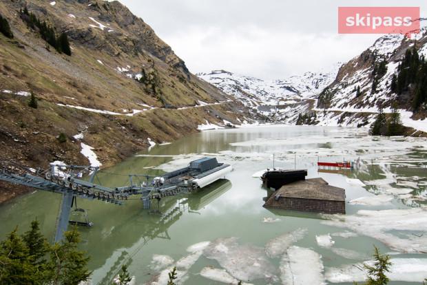 Avoriaz ski lift underwater last week