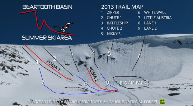 Beartooth Basin trail map