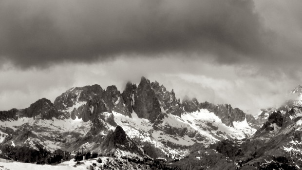 The Minarets from Mammoth on Sunday.