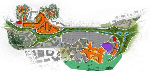 Squaw's currently proposed village expansion  project that would take 25 years to complete.