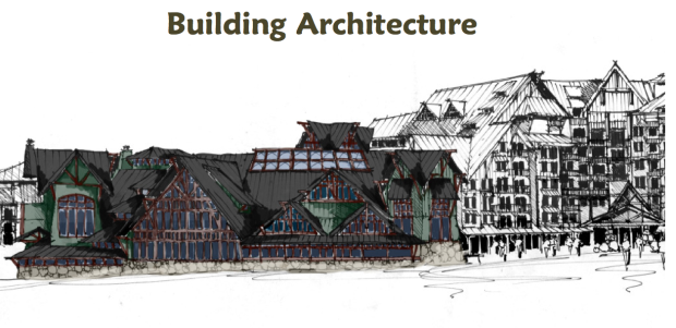 What the architecture may look like in the proposed village.
