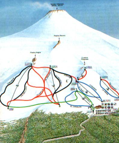 Pucon ski resort trail map.