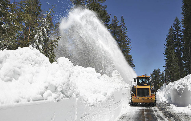 Tioga Pass, CA on May 12, 2011.  Not quite this deep this year...  photo:  brian van der brug/LA times