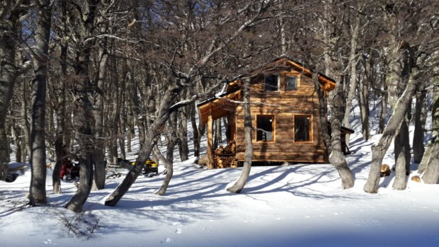 The Villegas hut is finished in a gorgeous setting and ready for skiers and riders.