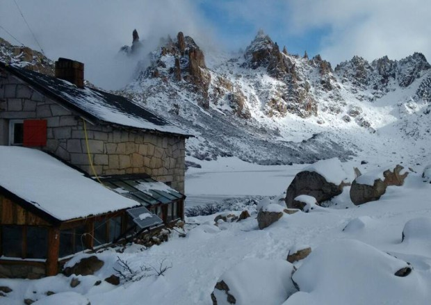 Refugio Frey in Bariloche, Argentina on May 29th, 2015.