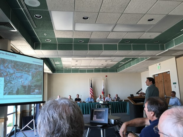 Alex Fisch presenting the dEIR to the people yesterday at the Placer County Planning Comssion meeting.  photo:  UnofficialAlpine.com