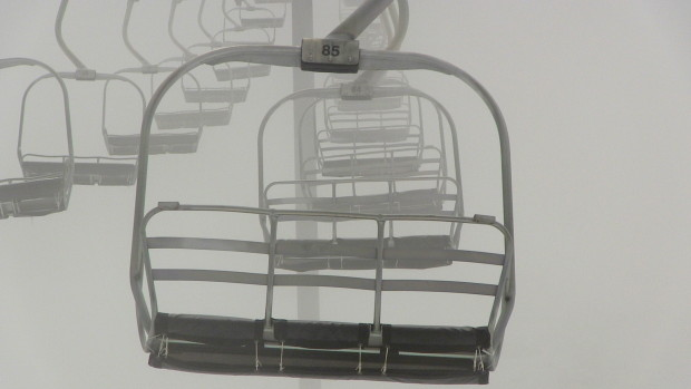 Empty chairlifts at Mammoth, CA in May, 2015. photo: snowbrains