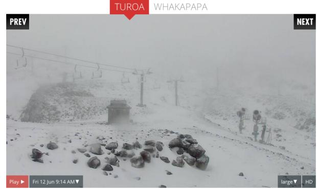 Turoa ski resort today.