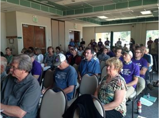 The public at the meeting.  photo:  sierra watch
