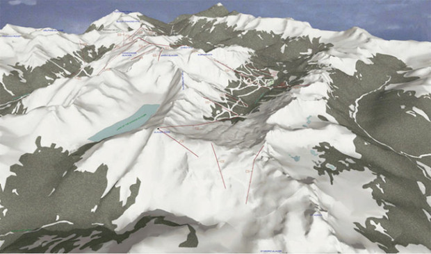 How the Jumbo Glacier ski resort was to look.
