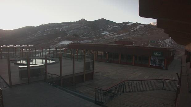 No snow at Valle Nevado today, June 17th, 2015.  photo:  valle nevado