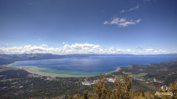 Tahoe looking full today from the Heavenly observation deck