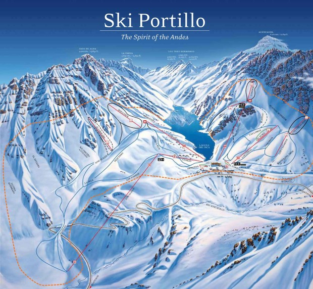 Portillo trail map. They don't have webcams, but we're almost certain there is zero snow there right now.