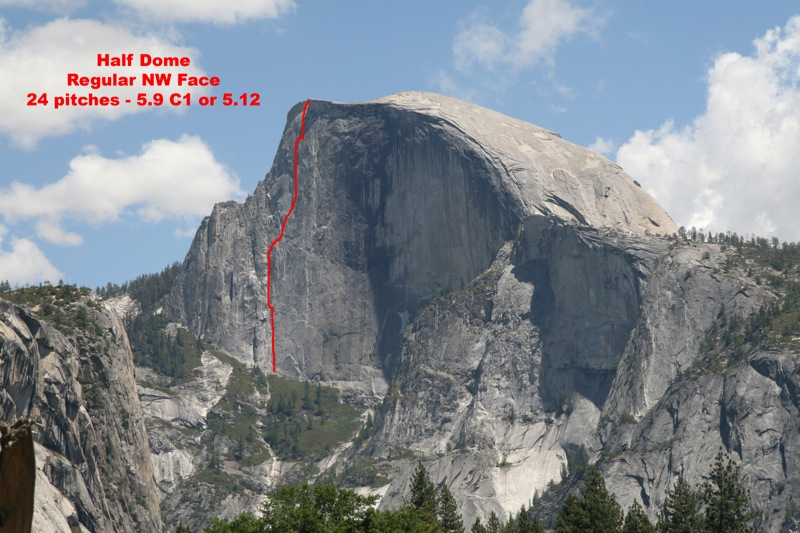 Half Dome Loses Large Chunk Leaves Nw Face Route