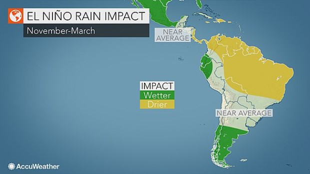 AccuWeather is calling for the above average precip to continue through the summer for southern South America