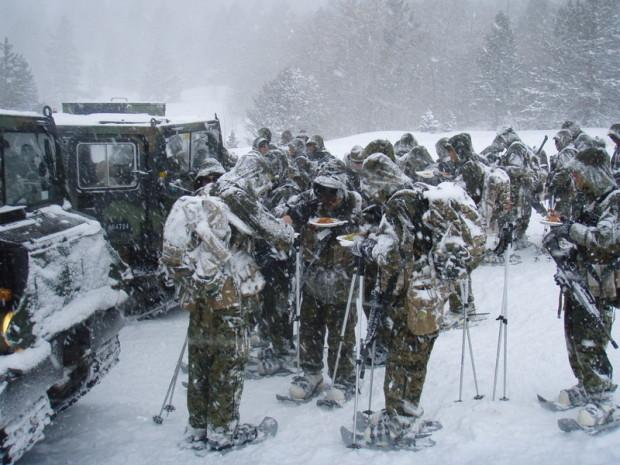Cold Marines. Hot Food.