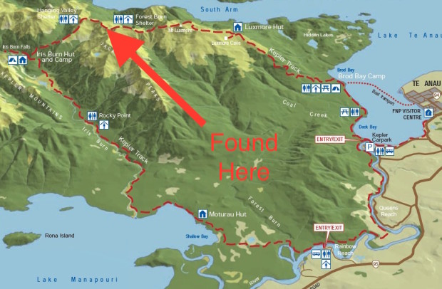 Approximate location of the two avalanche victims.