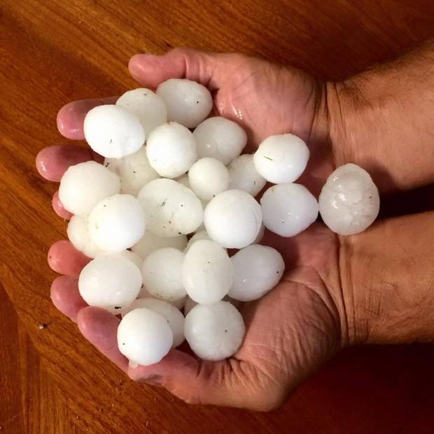 Big Hail yesterday in Lake Tahoe.  photo:  chris brackett