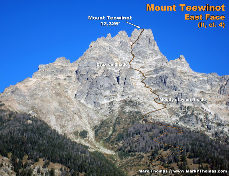 12,330' Teewinot Mountain, WY. East Face route.