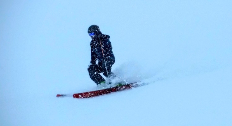 Great skiing in tough visibility on Nubes this week.