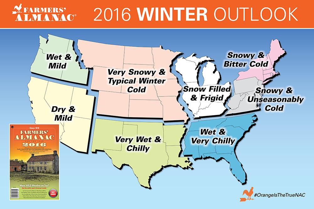 2016 Winter Weather Outlook by the Farmers Almanac: - SnowBrains.com