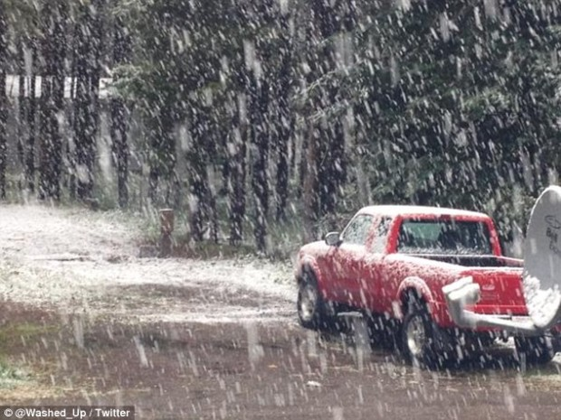 Calgary, Canada on Aug. 21st, 2015. 'Calgary, my beautiful hometown, where I've now officially seen snow in every single month of the year'