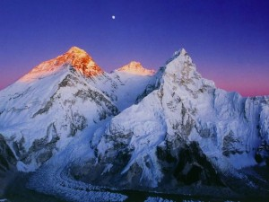 Mt. Everest in the early morning light.