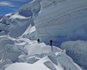 Climbing Chimborazo.