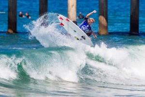Beyrick De Vries  with a decent size air on smaller wave
