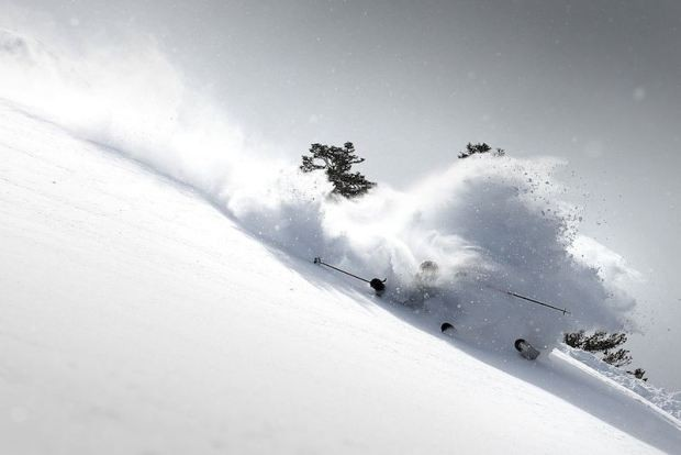 Living the dream in Squaw Valley, USA. skier: jamie blair // photo: casey cane