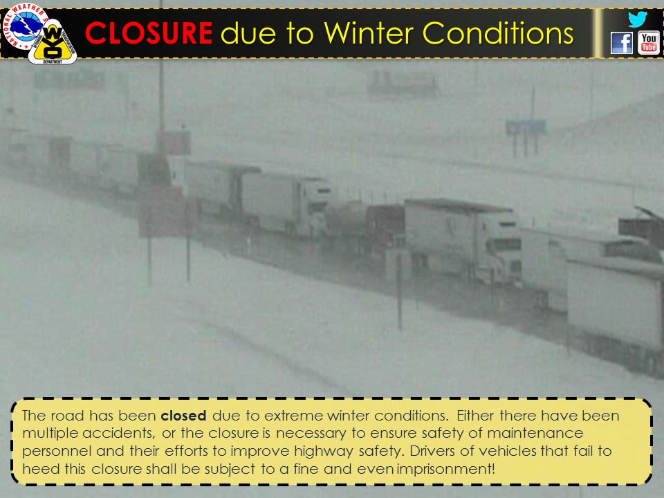 Beartooh pass and the east entrance to Yellowstone National Park are Closed today due to snow