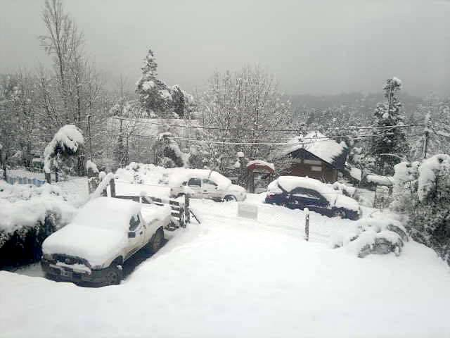 Bariloche, Argentina this morning.  photo:  juli